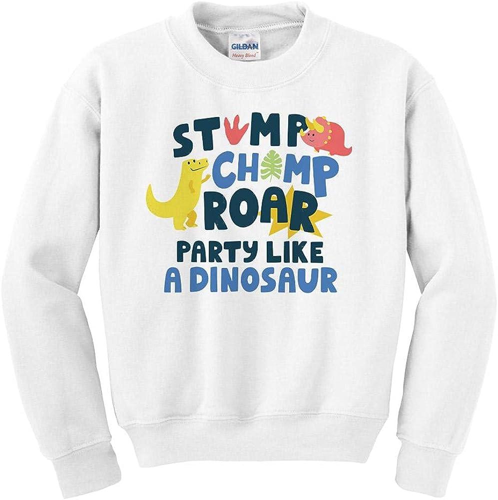 Stomp Chomp and Roar Free Shipping New Youth Kids Sweatshirt Topics on TV