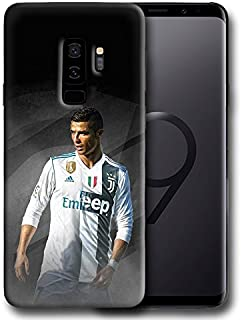 Hard Case Cover with Ronaldo Cristiano, CR7, Professional Football Player Design Compatible with Samsung Galaxy S9 Plus (ronal1)