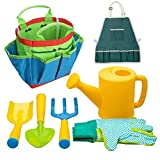 Homiki Regalos de los niños Herramientas de jardinería Beach Kids recinto de Seguridad Juguetes Set Equipo de Jardinería Rastrillo Pala Conjunto de plástico al Aire Libre 7pcs Juguetes para niños