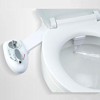 EBTOOLS Bidet Nettoyeur de Toilettes Kit Douchette Bidet pour WC Buse Double Connecteur 3//8 Ultra-Mince Hygi/ène Intime Installation Simple Bidet Toilettes Pratique