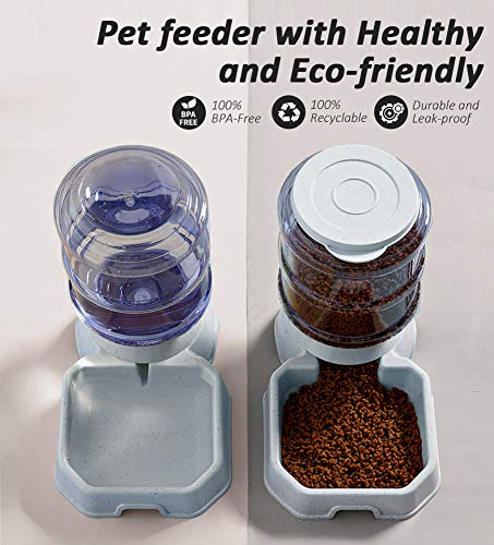 Pet Feeder and Water Food Dispenser Automatic for...