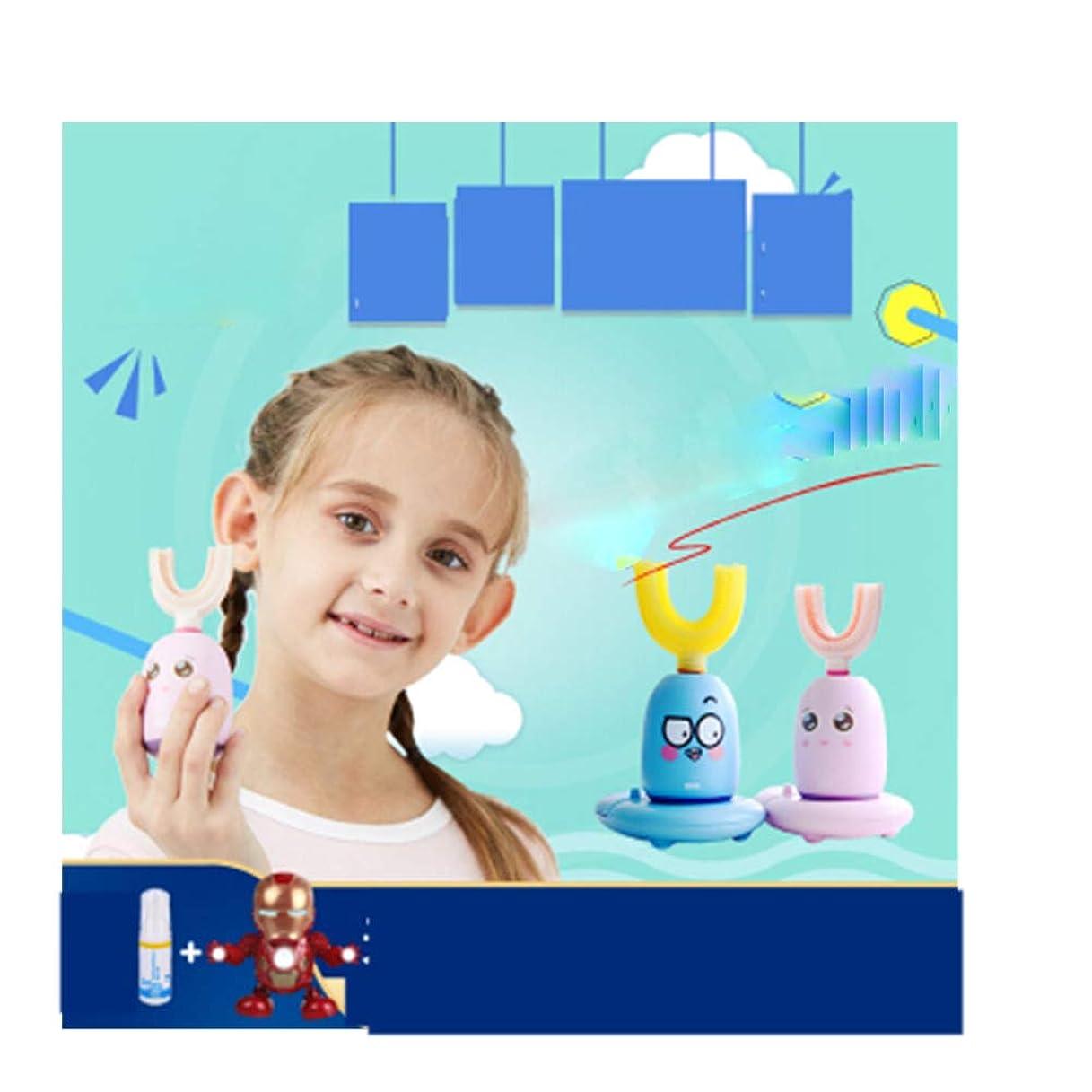 かまど深める私の子供、子供の子供の赤ちゃんに愛されている3-6-12ソニック自動歯ブラシ、U字型の怠zyな人口、3次元自動充電、-blue