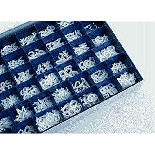 Legamaster 7-605100 Rillenbuchstaben, 576 Stück, sortiert im Buchstabenkasten, Buchstabenhöhe 12 mm. weiß