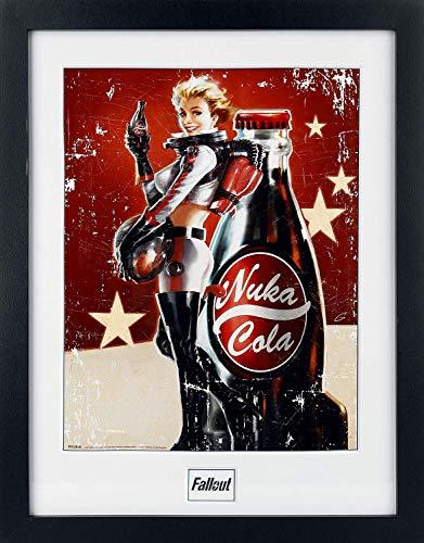 Fallout 4 - Nuka Cola Unisex Gerahmtes Bild Mehrfarbig