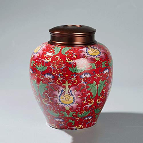 Latas de té Mini té for frutas y verduras, té de la lata, alimentos tarro de almacenamiento, cerámica té estaño, tradicional Tetera, frasco hermético portátil de almacenamiento, puede almacenar té / m