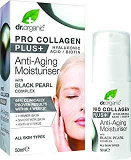 DR ORGANIC Pro Collagen Plus+ - Anti Aging Moisturiser With Black Pearl, 50 Milliliter