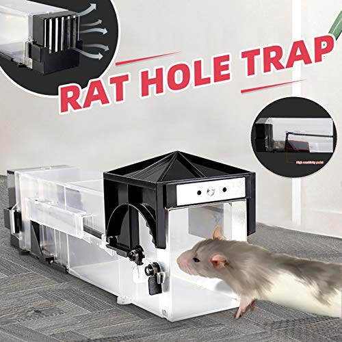 Grizy Humane Mouse Trap Rat Trap, Reusable Rodent Trap 29.5cm Large, Mice Catcher Live, Large Hamster Cage, Pets Children Friendly, Indoor Outdoor Use, Washable, Large Live Space No Kill (White)
