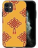 CASFY Funda para teléfono compatible con iPhone 11, patrón chino QWE080_5 diseño de moda estética lujo lindo patrón teléfono Accesorios