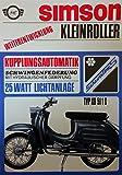 Schönes Prospekt Simson Schwalbe KR51/1S Automatik 49,6 cm³ - DDR STIL 1969 VEB SUHL