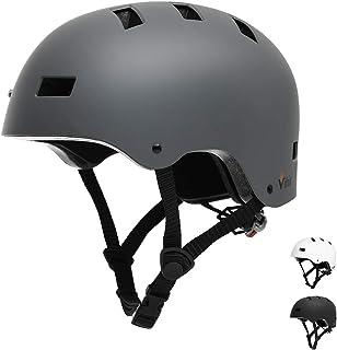 Vihir Erwachsene Fahrradhelm Skaterhelm E-Scooter E-Roller BMX Fahradhelm Herren Damen..