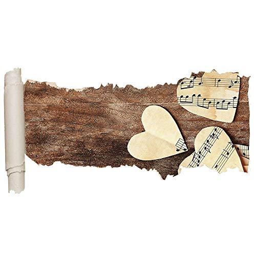 HUIHUI Etiqueta de la pared partitura amor corazón vida vinilo agujero rasgado niña niño C581