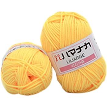laamei Ovillo de Algodón, Hilo de Ganchillo Hilo de Tejer a Mano de Lana de Ganchillo Hilado Grueso en una Variedad de Colores Crochet y Tejer 25g/ Ovillo, 2 Piezas: laamei: Amazon.es: