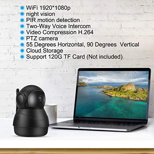 Crisis WiFi Babycam, cámara de vigilancia CCTV inalámbrica de Seguridad para el hogar, cámara PTZ 1080P para cámara(European regulations)