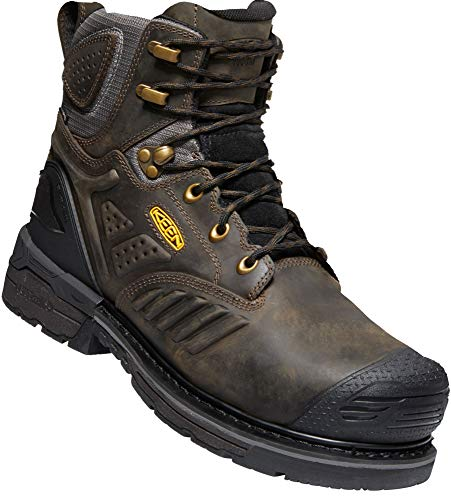 "KEEN Utility Men's Philadelphia 6"" 400G Insulated Composite Toe Waterproof Work Boots Industrial, Cascade Brown/Black, 10.5"