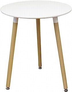 WEIMALL イームズ ラウンドテーブル 直径60cm 北欧風 ダイニングテーブル 円形 ホワイト 白