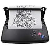 TTLIFE Máquina De Transferencia De Tatuajes Impresora Térmica Tattoo A5 A4 Con Papel De Transferencia Térmica De 10 Piezas y 500 Patrones Digitales Para Suministros De Tatuaje De Bricolaje