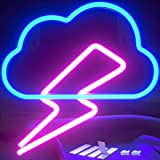 Lightning Bolt Neon Signs Led Cloud (Pink and Blue) Neon Signs for Bedroom - Neon Sign Neon Lights Led Signs Neon Lights for Bedroom - Led Sign Cloud Light Neon Light Sign Led Signs for Bedroom Wall