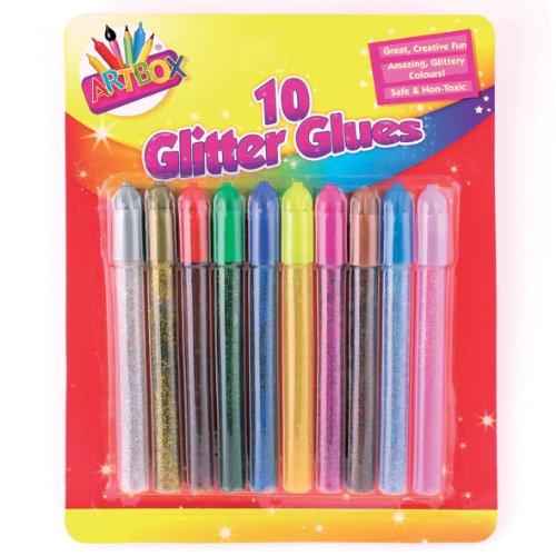 Art Box Colla Brillantini - Colori assortiti (confezione da 10)