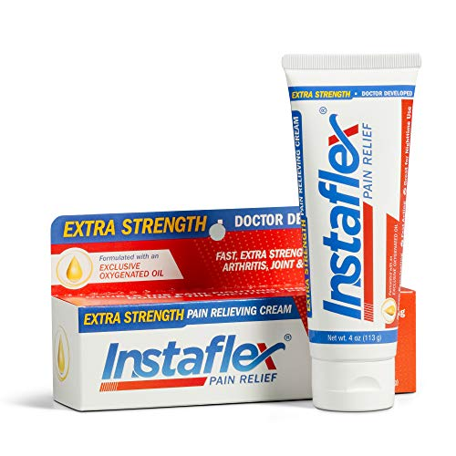 Price comparison product image Instaflex Extra Strength Pain Relief Cream,  with 2X The Pain-Fighting Ingredients,  Rubs Out Your Toughest Muscle and Joint Pain (4 oz)