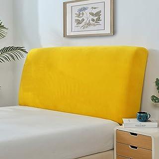 Cabeceros De Cama Funda Cover Funda Para Cabeceros De Cama De Tela Lado De La Cama Cubierta A Prueba De Polvo Lavable Para La Decoración Del Dormitorio,Yellow-Queen(150-170cm)