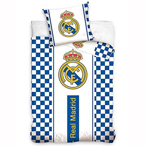 Real Madrid Parure de lit Housse de Couette réversible 100%