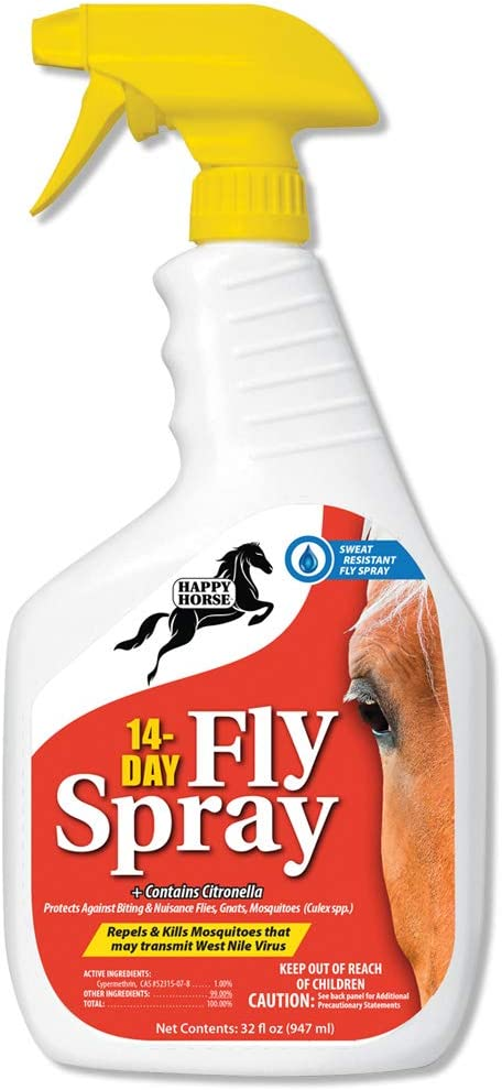 Happy Horse Fly Spray 14-Day Award Sweat Long Inventory cleanup selling sale L Weather Resistant and