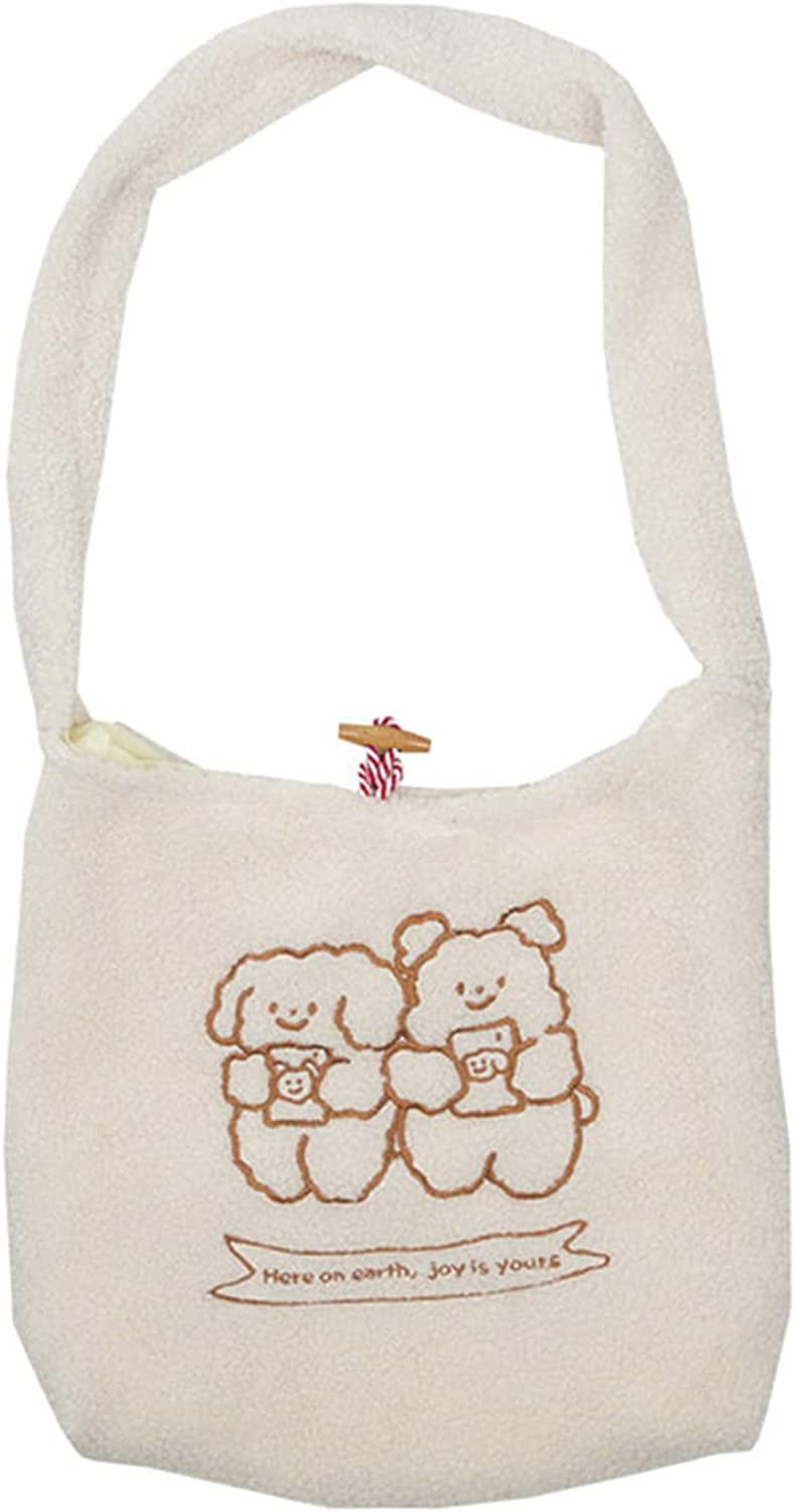 FVVMEED Women Canvas Tote Purse Lamb Bag Si Fort Worth Mall Raleigh Mall Fabric Shoulder Like