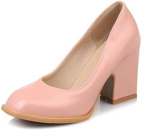 VIVIOO Moda contratada zapatos de Trabajo señora de la Oficina tamaño Grande 34-48 zapatos de Tacones Altos PU mujeres de la Bomba Baja Cuatro Temporadas