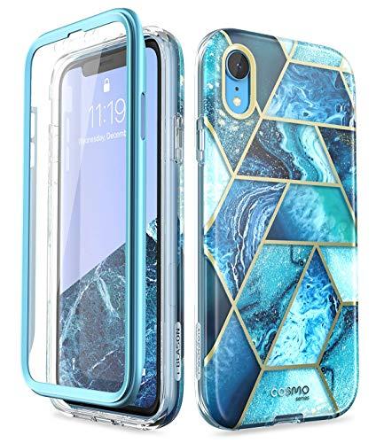 i-Blason Cosmo Full-Body Bumper Case for iPhone XR 2018 Release, Ocean Blue, 6.1'
