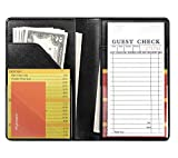 Mymazn Black Server Books for Waitress Book Waiter Book Server Booklet Restaurant Waitstaff Organizer, Serving Book Guest Check Book Holder Money Pocket Fits Server Apron (Black)