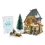 Department 56 Dickens A Christmas Carol Poulterers Shop Lit Building and Fresh Fallen Snow Village Set, Multicolor