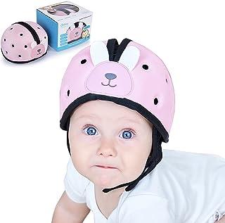 Orzbow Baby Head Protector, Infant Soft Helmet, Safety Helmet for Toddler, Adjustable Age 6m-2y (Blue) (Pink)