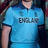 New Balance ECB Replica WC19 Champions ODI Short Sleeve Camiseta, Hombre, Azul, M