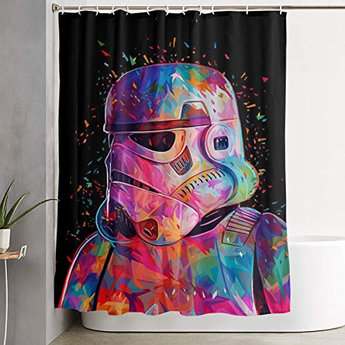 WANGTGG Single-Sided Printed Shower Curtain Waterproof Fabric Polyester Shower Curtain Set with 59x71 in