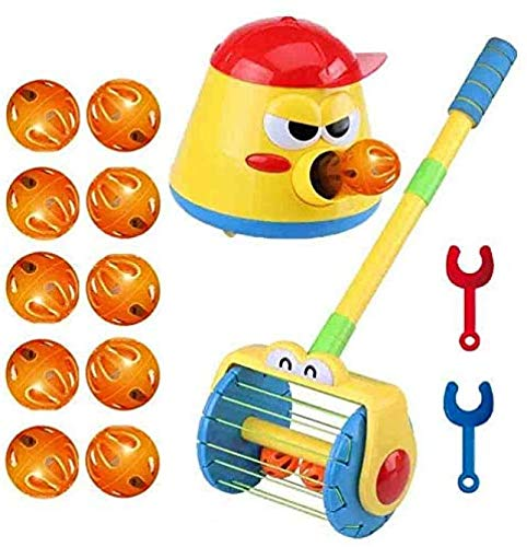 ZGHYBD Electric Push Walker & Whirl Scoop a Ball Launcher Walker Set, Baby Vacuum Cleaner Toy, Automatic Ball Launcher for Kids,Parent-Child Interactive Party Fun Family Game