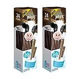Milk Magic Chocolate Magic Straws, 0.16 oz, 24 count (Pack of 2)