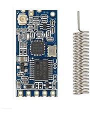 HC-12 433Mhz SI4463 Transceptor inalámbrico de transmisión de datos de comunicación de puerto serie de larga distancia 1000M Reemplazar Bluetooth con antena de resorte