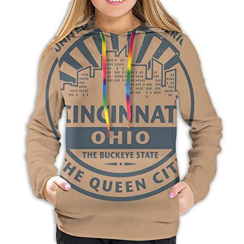 The Queen City Advertising Authentiek Vintage Icon of, dames modieus casual sweatshirt