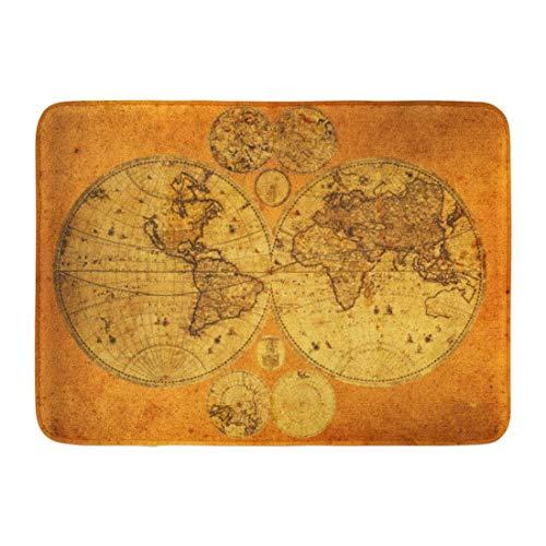 NCH UWDF Fußmatten Bad Teppiche Fußmatte Antike Alte Weltkarte Armenien Globus Osten Mittlere Kontinente Asien 15,8