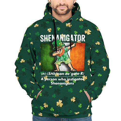 St. Patrick's Day Shenanigator Unisex Colorful Hooded Sweatshirt with Classic Fit Boyfriend Girlfriend or Families White XL (Best Friend Girlfriend Webtoon)