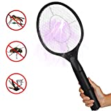 Littleduck Electric Bug Zapper Racket Fly Swatter Handheld Mosquito Insect Wasp Killer for Indoor and Outdoor Use Battery Operated (Black)