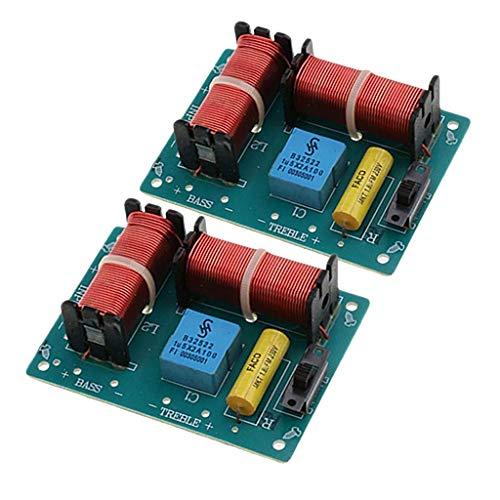 Baoblaze 2pcs Diviseur de Fréquence Haute Basse Audio Haut-parleurs Filtres 2 Voies 100W
