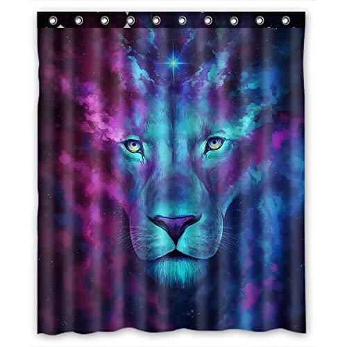 KXMDXA Custom Galaxy Lion Shower Curtain Waterproof Polyester Bathroom 60 x 72 inch
