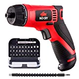 NoCry 10 N.m Cordless Electric Screwdriver - with 30 Screw Bits Set, Rechargeable 7.2 Volt...