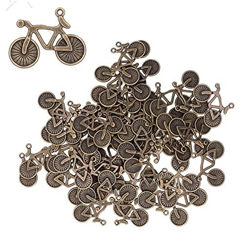 Sicerk Colgantes de Modelo de Bicicleta, 50 Piezas Colgantes de Bicicleta Decoraciones de Modelo de Bicicleta Accesorios de joyería de Bricolaje para Suministros de Bricolaje para Manualidades