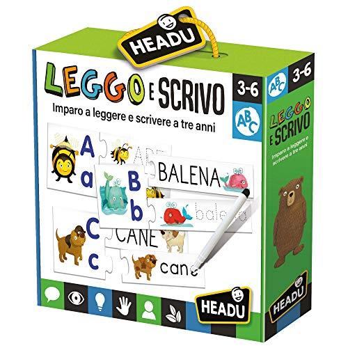 Headu- Leggo e Scrivo Gioco Educativo, Multicolore, IT20591