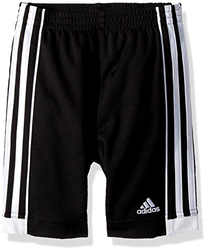 adidas Boys' Big Active Sports Athletic Shorts, Speed 18 Black, L(14/16)