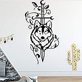 zhuzhuwen Pegatinas De Pared para Dormitorios Infantiles En American-Wolf Habitaciones Personalizadas Home Party Wall, Calcomanía Impermeable Vinilo Wallpaper Wall Art 43X67Cm