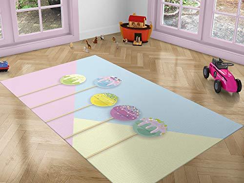 Oedim Alfombra Infantil Caramelo para Habitaciones PVC | 95 x 133 cm | Moqueta PVC | Suelo vinílico | Decoración del Hogar | Suelo Sintasol | Suelo de Protección |