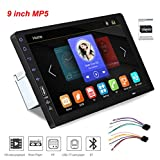 GOFORJUMP Radio para Coche Reproductor de Video Multimedia 2DIN Universal 9 '' Pantalla táctil Reproductor BT MP5 Compatible con teléfono Android Mirror Link